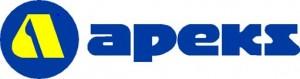 Logo firmy Apeks - producenta sprzętu nurkowego